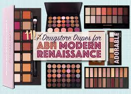 11 abh modern renaissance palette dupes from the drugstore
