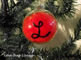 monogrammed ornaments glass ornament diys popsugar smart