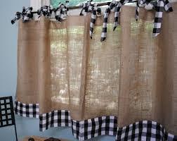 burlap and gingham cafe curtains by paulaanderika on etsy sue u0027s