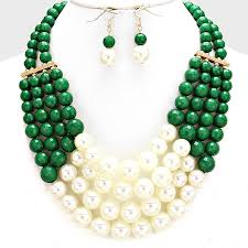 green pearls necklace images Statement faux pearl necklace set beautiful things greeks jpg