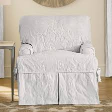 sure fit matelasse damask t cushion sofa slipcover sure fit matelasse damask t cushion chair slipcover ebay