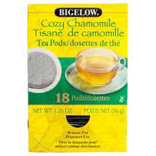 bigelow cozy chamomile tea pods 18 box