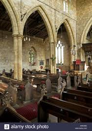 Interior Stone Arches Gothic Arches Stone Pillars And Pews Inside All Saints Church
