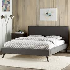 Gray Platform Bed Delve Upholstered Platform Bed U0026 Reviews Birch Lane