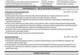 Biotech Resume Sample by Quality Control Lab Technician Resume Reentrycorps