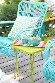 Front Porch Patio Furniture by Im So Doing This Spray Painted Brightly Colored Wicker And