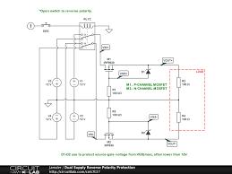 dual supply reverse polarity protection circuitlab
