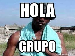 Hola Meme - hola grupo negro whatsapp meme generator