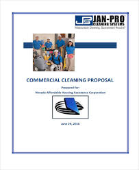 7 cleaning service proposal templates free sample example format