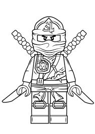 ninjago kai kx in elemental robe coloring page free printable