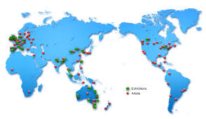 World Map With Pins by World Map Pacific Pins Flat1 Jpg