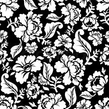 white seamless pattern retro floral texture vintage flora