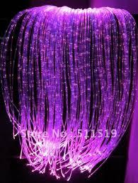Fiber Optic Curtain Light With 120pcs Twinkle Fiber Optic Light