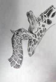 giraffe baby and mom drawing 10 15 14 ver 2 by delenntoo on deviantart