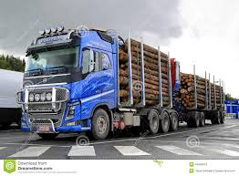 trailer volvo volvo fh16 700 timber truck and log trailer editorial image