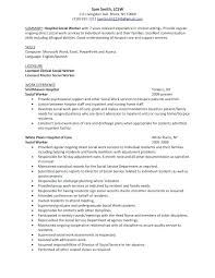 clinical social worker resume template social work resume
