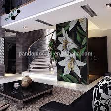 3d Wallpaper For Home Wall India Smm05 Flower Pattern Wall Tiles Glass Mosaic Tile Wallpaper Murals