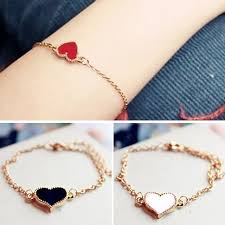 love heart chain bracelet images Women favorite heart love hand chain bracelet fashion jewelry jpg