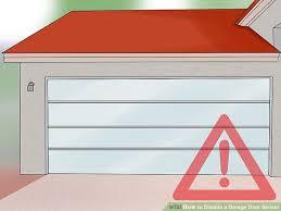 door release button for desk 3 ways to disable a garage door sensor wikihow