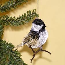 chickadee ornament free standing lace showalter designs