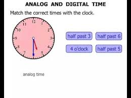 2nd grade analog and digital time youtube