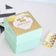 personalized boxes 12 pc personalized 2 x 2 metallic foil mini wedding favor boxes