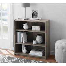 mainstays 3 shelf standard bookcase multiple colors walmart com