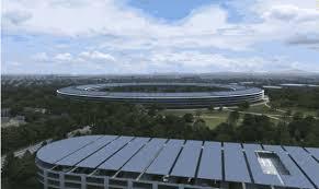 apple u0027s spaceship campus gets flyover treatment in new renderings