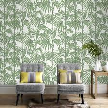 green wallpaper room 7 best stair wallpaper images on pinterest palm wallpaper green