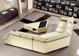 Modern Leather Sectional Sofa Coffee Table Cool Coffee Table For Sectional Sofa Your