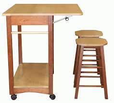 portable kitchen islands with stools kitchen decorating design ideas using folding solid light oak wood