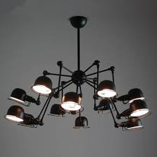 Black Kitchen Light Fixtures Vintage Chandelier Retro Loft Home Lighting Industrial Black
