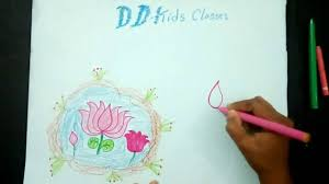Simple Lotus Flower Drawing - how to draw a lotus flower simple lotus flower drawing youtube
