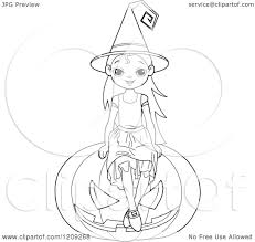 black and white halloween pumpkin clipart cartoon of a black and white witch sitting on a halloween