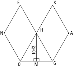 how to calculate the area of a regular hexagon dummies