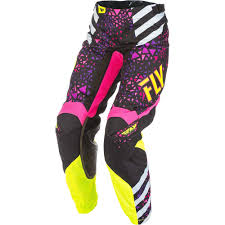 fly womens motocross gear new fly racing 2018 ladies mx kinetic neon pink hi vis womens