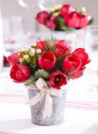 How To Make A Flower Centerpiece Arrangements by 50 Easy Christmas Centerpiece Ideas Midwest Living