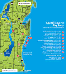 Bay City Michigan Map by A Lot Of Love For Leelanau The Grand Traverse Bay Loop Of Wineries