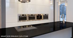 plaque granit cuisine plan de travail granit noir cuisine en lot central 0 04 16