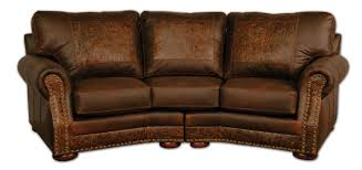 Leather Conversation Sofa Cameron Ranch Conversation Sofa Dejavu Holster Cosmo Tooled Leather