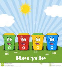 imagenes animadas sobre el reciclaje personaje de dibujos animados de cuatro papeleras de reciclaje del