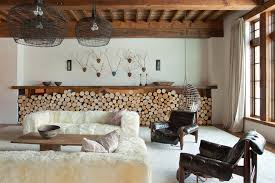 faux fur blanket in living room contemporary with hanging chair