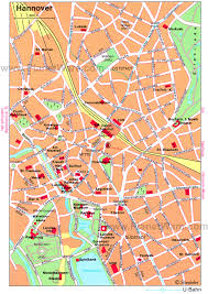 map of germany cities hannover map