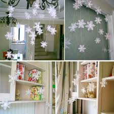 beautiful 3 m white snowflake paper garlands party wedding home