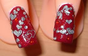 75 most stylish pink heart nail art design ideas valentines day