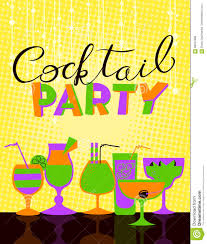 cocktail party poster background for night club or alcohol bar