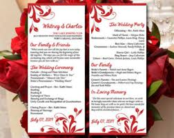 tea length wedding program template heart wedding program template printable timeline diy