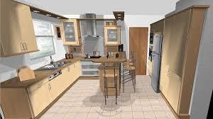 plan cuisine en 3d meubles de cuisine intégrée plan de travail et conception en 3d