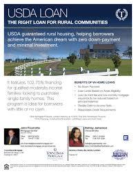Us Dept Of Agriculture Rural Development Loan Programs