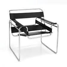 wassily poltrona mobilier tubulaire breuer fauteuil wassily mobilier furniture
